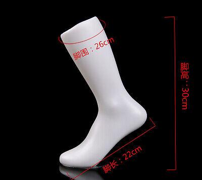 12inch 1pc Female Mannequin Feet Plastic Stand Women Socks Part Leg White Foot