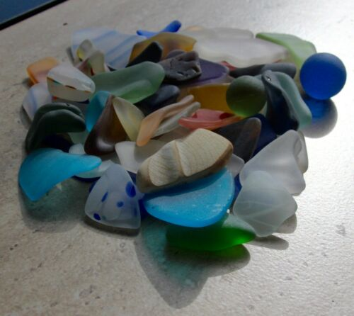 """NEW pound tumbled """"Beach"""" glass ALL Great, large sizes, ALL PATTERNS and COLORS"""