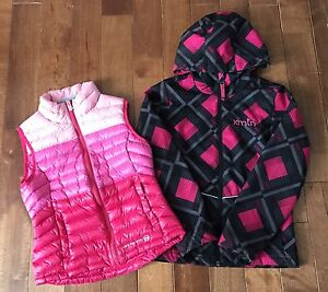 GIRLS size 7-8 Jacket and Vest Excellent Condition
