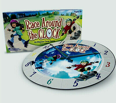 Race Around The Clock - An Elapsed Time Game - Learning Resources RARE NEW Elapsed Time Game