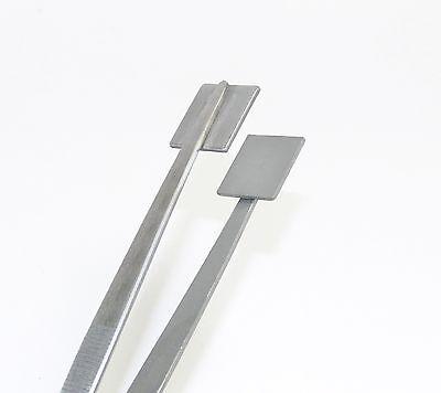 "Mashing Tweezers Glass Work Bead Masher Tweezer 8"" Lampworking 3/4"" Surface S.S."