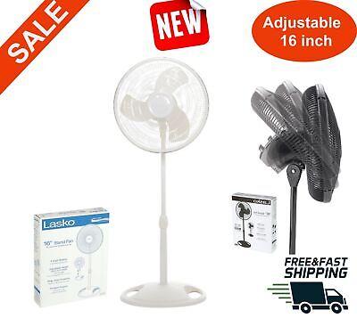 3-Speed Fan Oscillating Rotating Pedestal Stand White Lasko