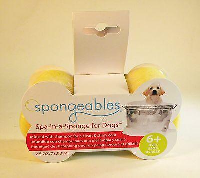 Spa-In-a-Sponge Dog Wash Sponge (Soap is in the sponge) 2.5oz