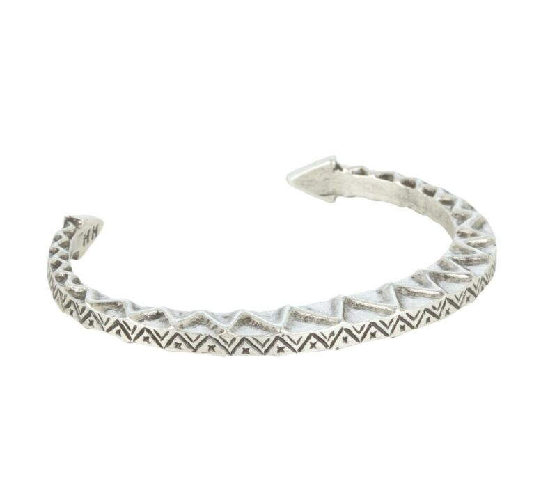 HOUSE OF HARLOW 1960 Nicole Vintage Textured Zig Zag Tribal Cuff Bracelet