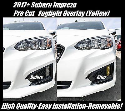 (2017 + Subaru Impreza Sedan Yellow Fog Light Overlay Tint JDM )
