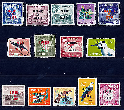 NAURU 1968 DEFINITIVES SG80/93  MNH