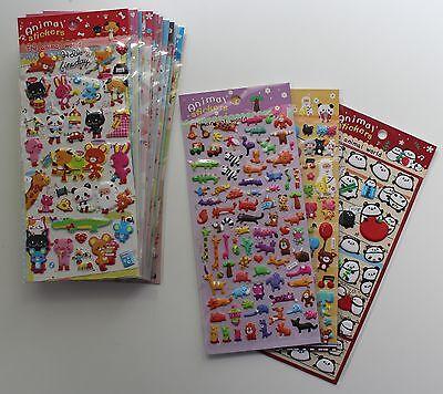 15x Stickerbogen Puffy Set Sticker Aufkleber Stickerbögen DIY Creative Sammlung