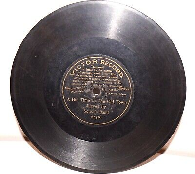 """RARE Antique 7"""" 1st VICTOR RECORD A-316 Phonograph Gramophone 1901"""