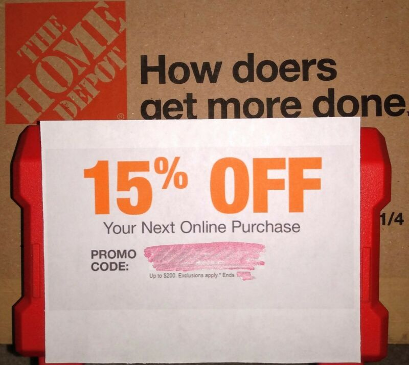 Home Depot Coupon 15% Off Online Order - Save $200 Exp 1/27 Fast Delivery!