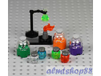 Figure Accessory NEW Lego Erlenmeyer Flask Trans-Purple Fluid x 3-41188
