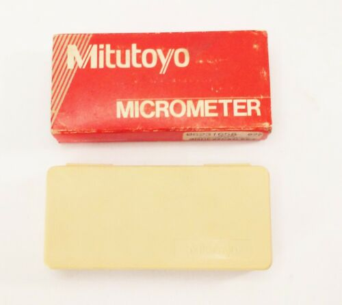 """Mitutoyo 0-1"""" outside mic micrometer ratchetstop case 103-260"""