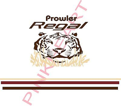 Fleetwood prowler cat KIT RV sticker decal graphics trailer camper rv tiger USA