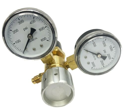 Nitrogen Regulator CGA580 0-475 PSI High Flow