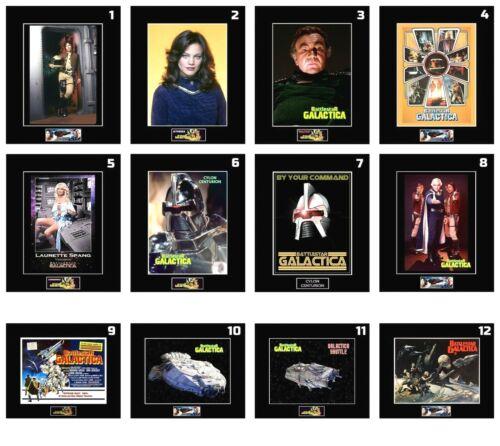 "(12) 1978 BattleStar Galactica Cast 8""x10"" Photos-11""x14"" Matted - CHOOSE ANY 1"