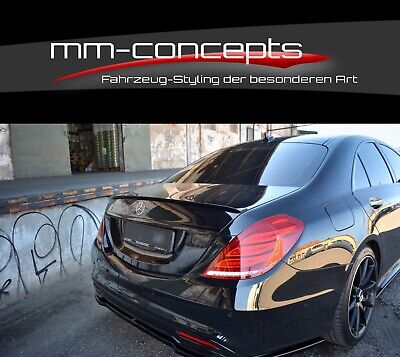 Cup Heckspoiler SCHWARZ für Mercedes S-Klasse W222 AMG Line Spoiler Rear Flügel