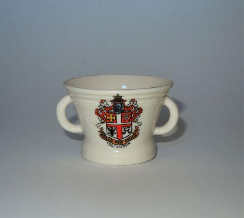 W. H. GOSS Crested Heraldic China Mini Miniature Model of Mortar Cup Islington