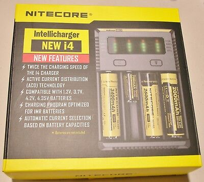 NEW NITECORE i4 Intellicharger Charger 18650 1850014500 18350 21700 20700  AA