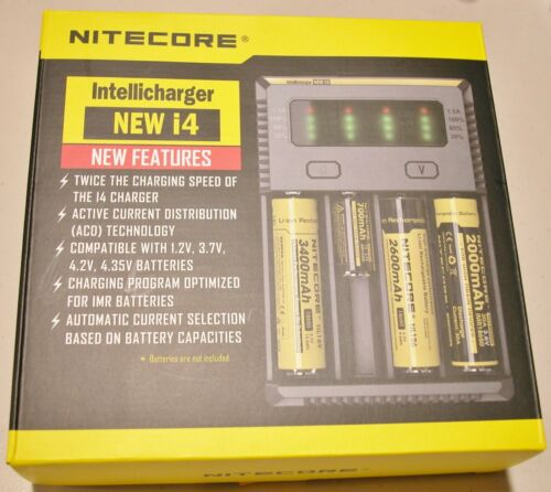 NEW NITECORE i4 Intellicharger Charger 18650 18500 14500 18350 21700 20700  AA