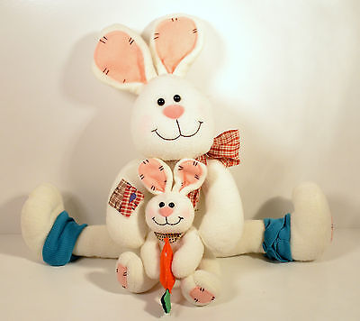 """20"""" Easter Bunny Baby Weighted Door Stopper Plush Stuffed Animal Tender Hearted"""