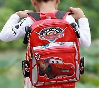 "Kids Backpack 13""14""16"" Disney Pixar 95 Cars McQueen School Bag Boy Best Gifts"