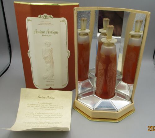 Reissued Coty Ambre Antique Perfume Bottle with Box - 1995