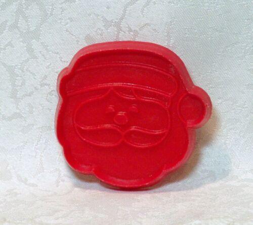 Hallmark Vintage Plastic Cookie Cutter - Petite Santa Face Christmas Eve St Nick