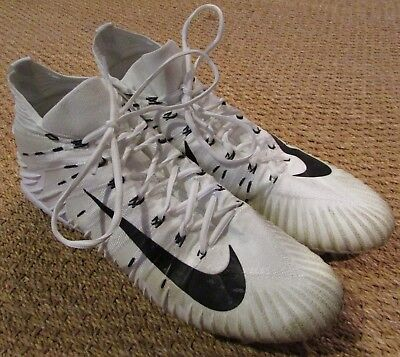 NFL Game Used Cleats Alfonso Boone Game Used Worn Football Cleats Nike Size 15 2009 Chargers Chiefs
