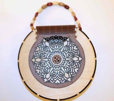 Unique Laser Cut Handmade Wooden Clutch Handbag Purse