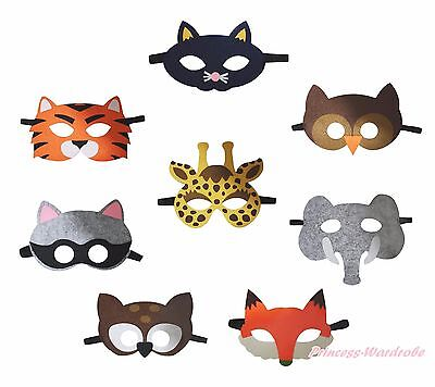 Halloween School Party Cat Tiger Fox Animal Face Eye Mask Kids Costume Cosplay - Tiger Face Halloween Costume