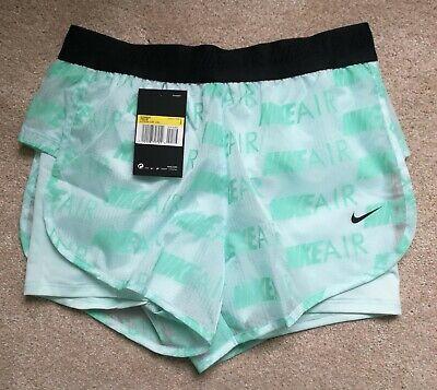 Nike Air Women's Running Shorts BNWT Mint Green Size XS, Small AQ5634-336 Sale