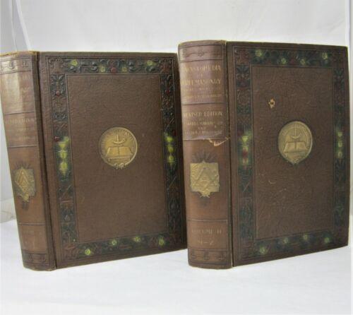 Encyclopedia of Free Masonry Set 2 Volumes Freemasonry 1921 Mackey  Masonic