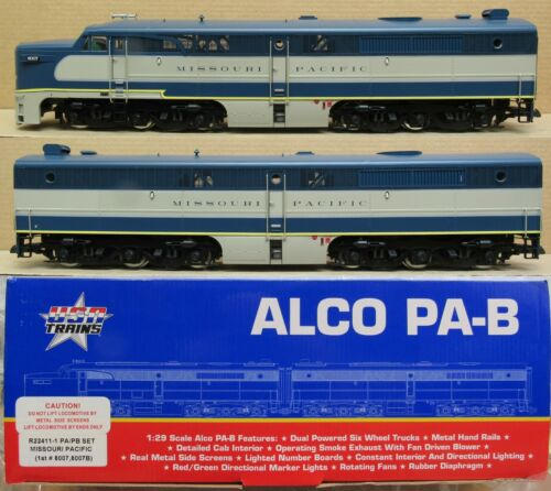 USA Trains R22411 Missouri Pacific ALCO PA-1 & PB-1 Diesel Engines G-Gauge LNIB