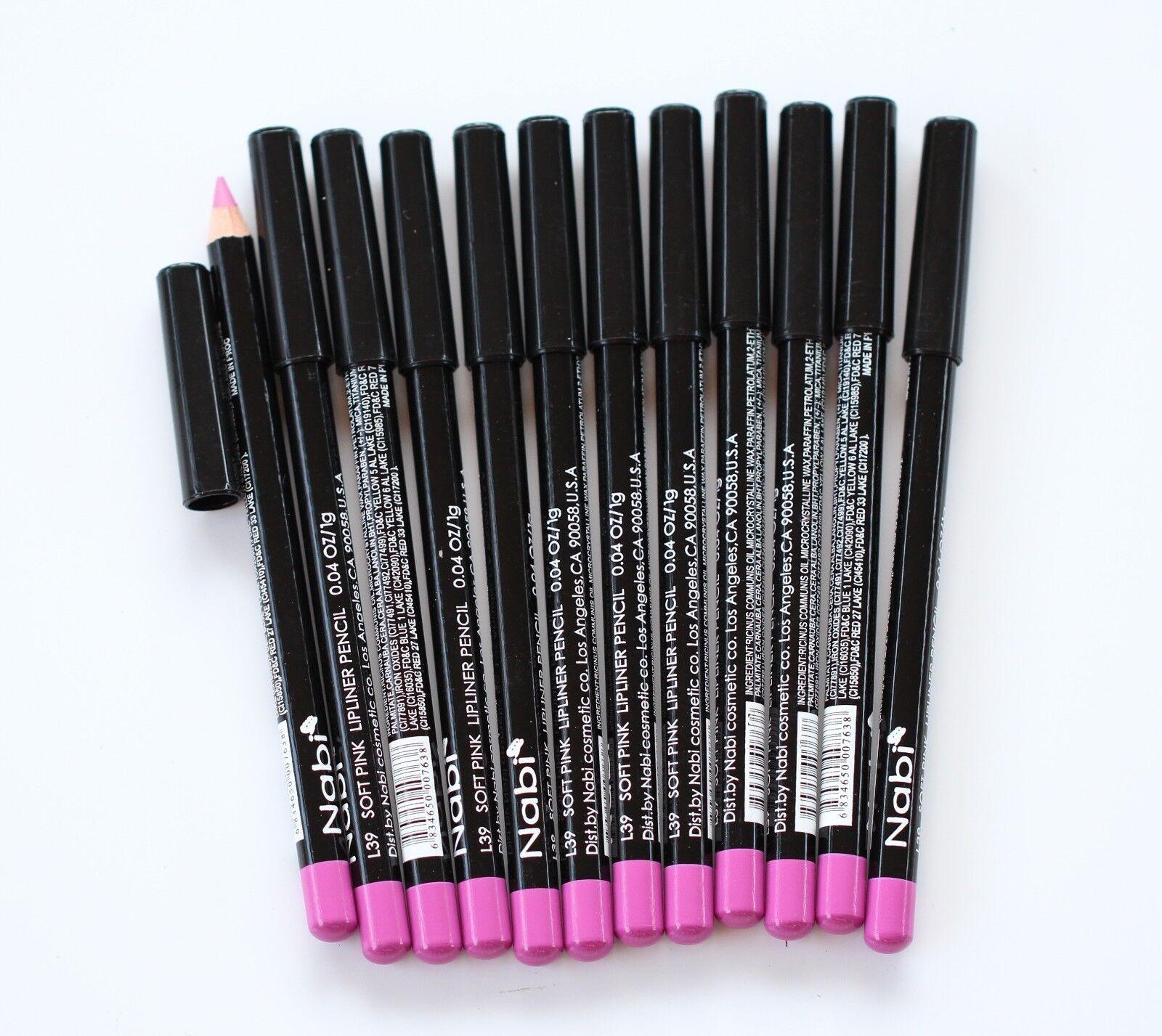 12 pcs NABI L39 SOFT PINK Lip Liner Pencil