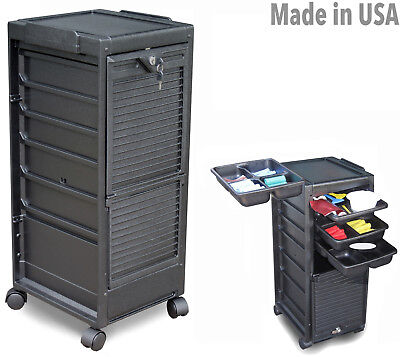 SALON ROLL-ABOUT TROLLY UTILITY CART G3 W/LOCKABLE DOOR MADE IN USA BY DINA MERI ()