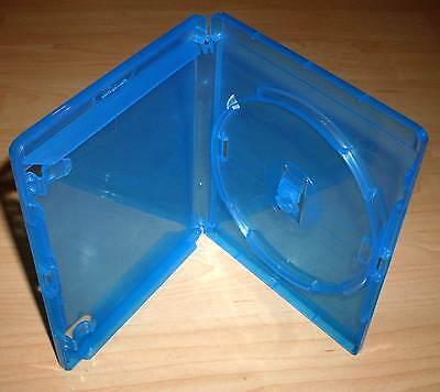 3 Blu Ray Hüllen Case Cases Hülle blau für Blu-Rays Blue Ray 14mm 1fach Neu