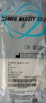 Clearfil Majesty Es-2 Ptl Classic Shade A3.5 Unidose Exp.2022-05-31 20x025
