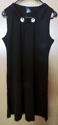 Damen Kleid NIGHTMARE BEFORE CHRISTMAS schwarz Gr. XL Halloween NEU Gothic Jack ()
