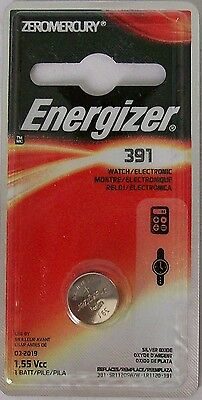 Energizer Watch Battery 391/381 replaces SR1120SW, SR1120W, V391, V381, Type `L`