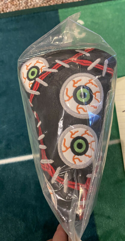 SCOTTY CAMERON HEADCOVER 2013 HALLOWEEN  EYE ON THE BALL PUTTER COVER MID MALLET