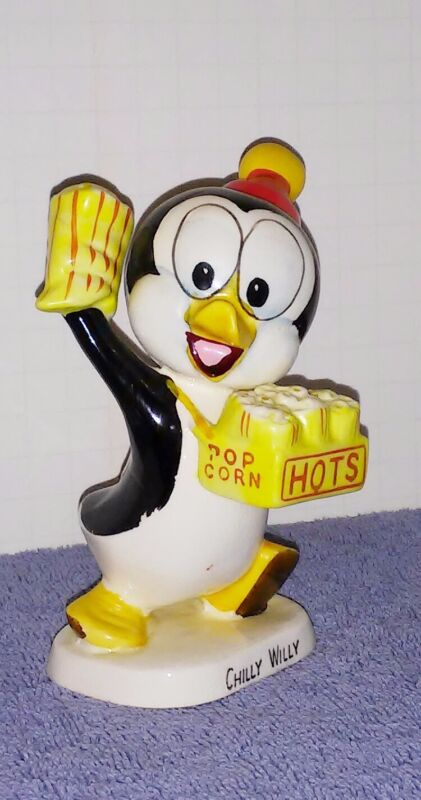 Chilly Willy Walter Lantz ceramic figurine 1958 scarce vintage nice