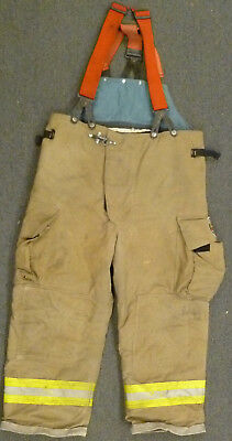 42x27 Pants Firefighter Turnout Bunker Fire Gear Suspenders Fire-dex P937