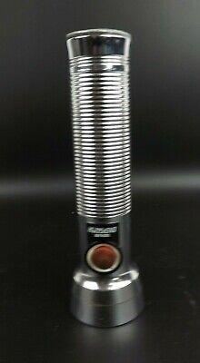 Vintage Eveready Energizer Union Carbide Metal Chrome Flashlight *WORKS*