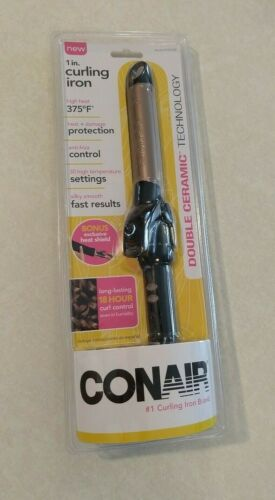 CONAIR Double Ceramic Curling Iron 1 Inch 30 Heat Settings 18-hour Curl Control