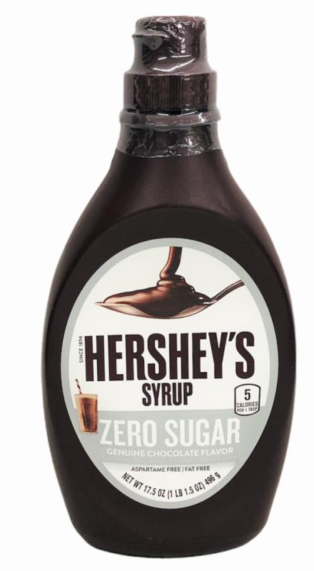 Hershey's Zero Sugar Genuine Chocolate Syrup 17.5 oz Hersheys