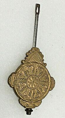 Antique Gingerbread Mantel Clock Pendulun Parts