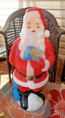 Vintage Santa Claus Lighted Christmas Blow Mold Yard Decor