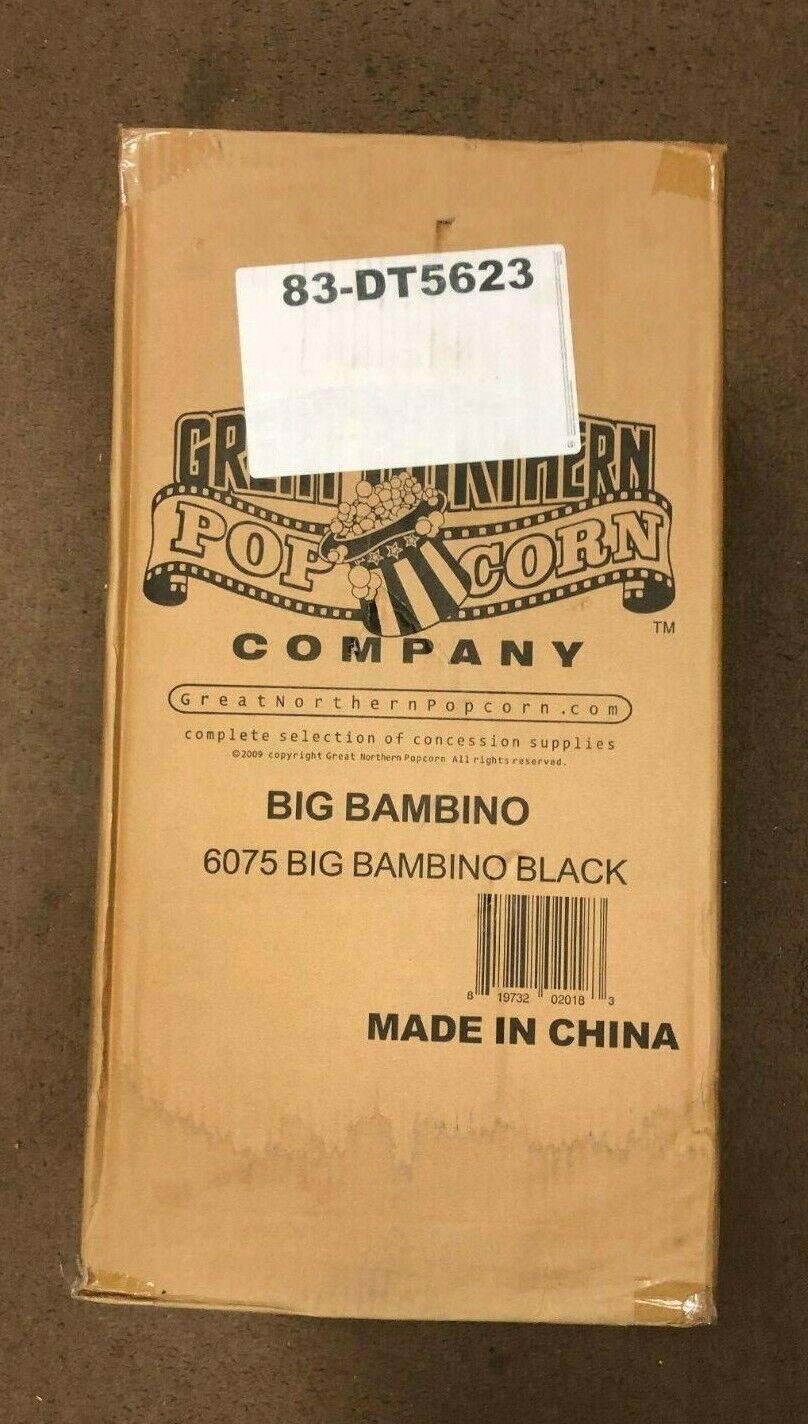 6075 Great Northern Black Big Bambino Table Top Retro Machin