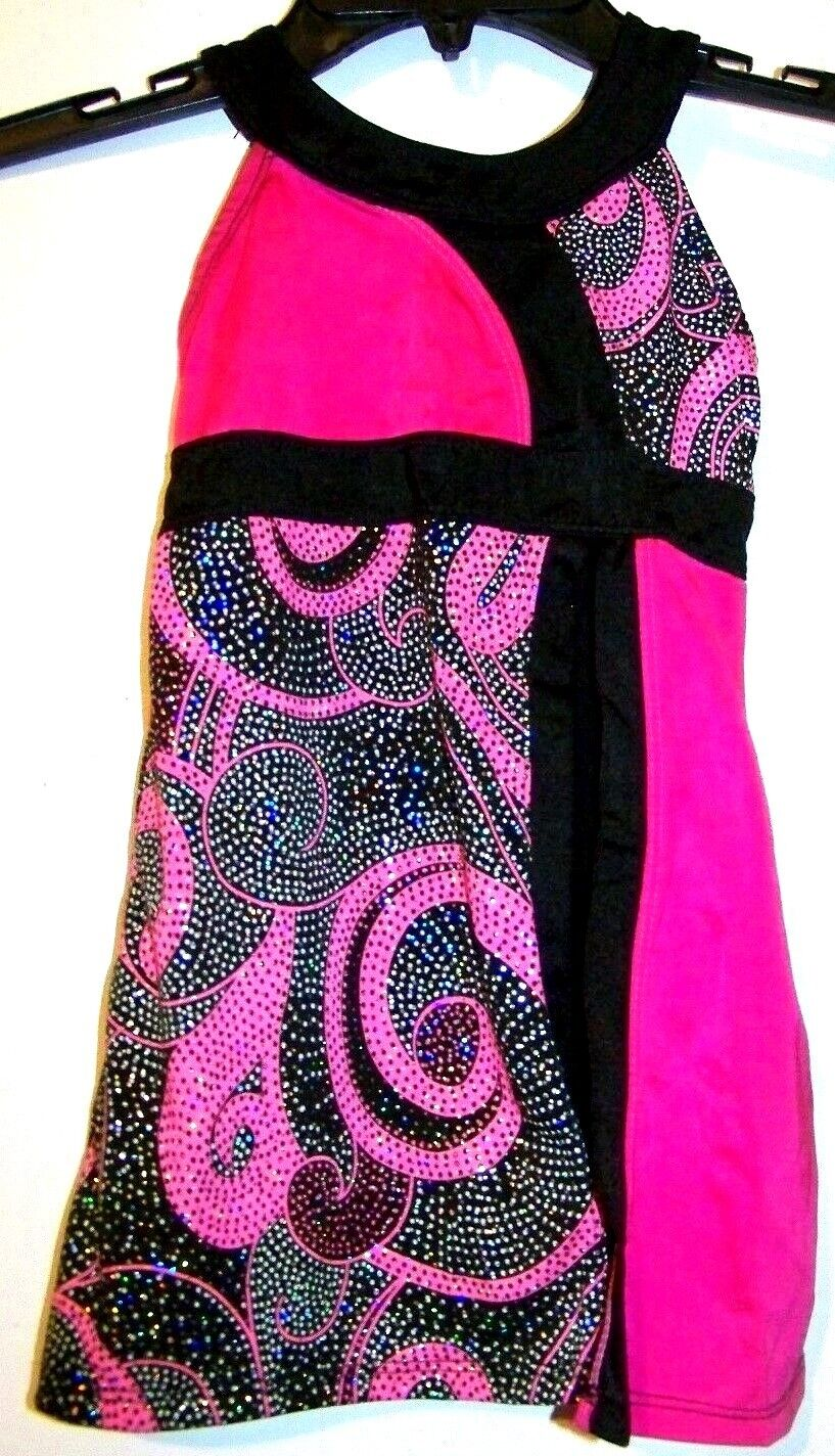 Girls Pink And Black Dance/Gymnastics Outfit Size Small - $8.99