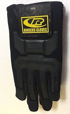 Black Large Ringers Gloves R-14 Mechanics Size L Brand New With Tags
