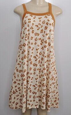 Agnes & Dora Size Medium Women's Leopard Print Versatile Tunic or Dress Pockets